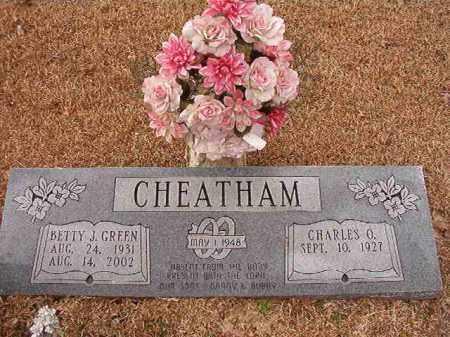 GREEN CHEATHAM, BETTY J - Columbia County, Arkansas   BETTY J GREEN CHEATHAM - Arkansas Gravestone Photos