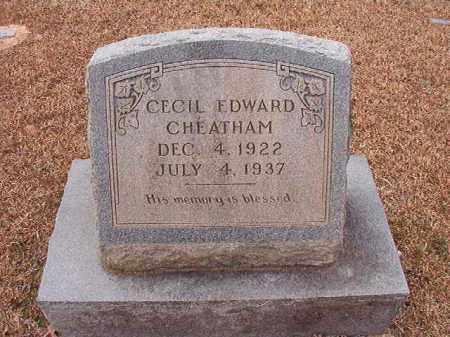 CHEATHAM, CECIL EDWARD - Columbia County, Arkansas | CECIL EDWARD CHEATHAM - Arkansas Gravestone Photos