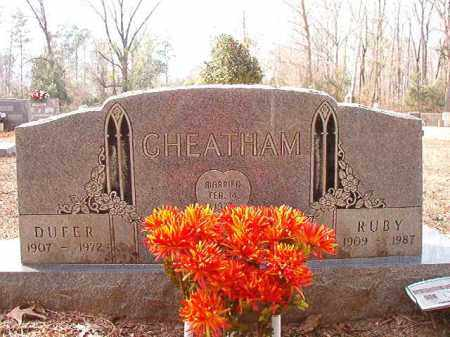 CHEATHAM, DUFER - Columbia County, Arkansas | DUFER CHEATHAM - Arkansas Gravestone Photos