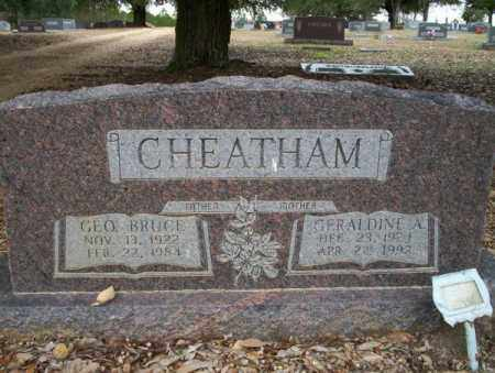 CHEATHAM, GERALDINE A - Columbia County, Arkansas | GERALDINE A CHEATHAM - Arkansas Gravestone Photos