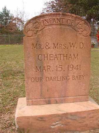 CHEATHAM, INFANT - Columbia County, Arkansas | INFANT CHEATHAM - Arkansas Gravestone Photos