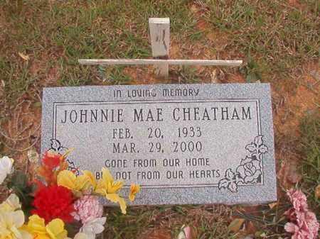 CHEATHAM, JOHNNIE MAE - Columbia County, Arkansas | JOHNNIE MAE CHEATHAM - Arkansas Gravestone Photos