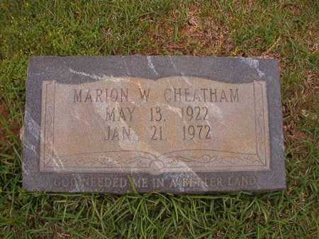 CHEATHAM, MARION W - Columbia County, Arkansas | MARION W CHEATHAM - Arkansas Gravestone Photos