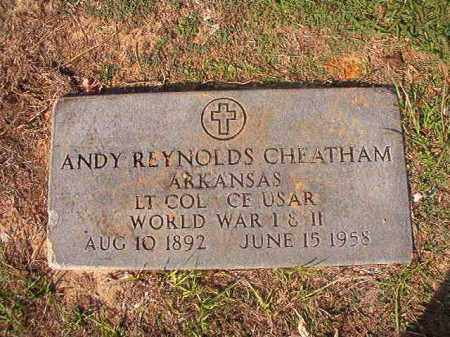 CHEATHAM (VETERAN 2 WARS), ANDY REYNOLDS - Columbia County, Arkansas | ANDY REYNOLDS CHEATHAM (VETERAN 2 WARS) - Arkansas Gravestone Photos