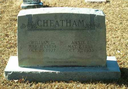 CHEATHAM, WILLIAM L. - Columbia County, Arkansas | WILLIAM L. CHEATHAM - Arkansas Gravestone Photos