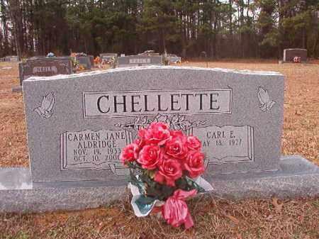 CHELLETTE, CARMEN JANE - Columbia County, Arkansas | CARMEN JANE CHELLETTE - Arkansas Gravestone Photos