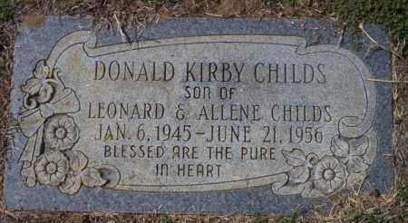 CHILDS, DONALD KIRBY - Columbia County, Arkansas   DONALD KIRBY CHILDS - Arkansas Gravestone Photos