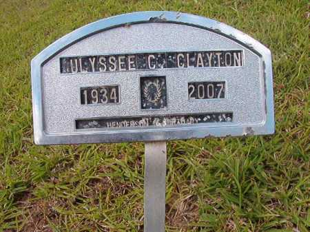 CLAYTON, ULYSEE C - Columbia County, Arkansas | ULYSEE C CLAYTON - Arkansas Gravestone Photos