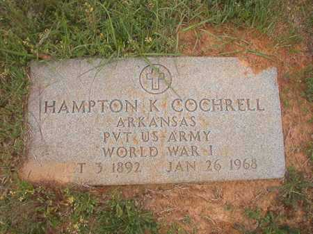 COCHRELL (VETERAN WWI), HAMPTON K - Columbia County, Arkansas | HAMPTON K COCHRELL (VETERAN WWI) - Arkansas Gravestone Photos