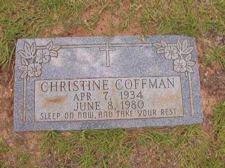 COFFMAN, CHRISTINE - Columbia County, Arkansas | CHRISTINE COFFMAN - Arkansas Gravestone Photos