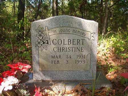 COLBERT, CHRISTINE - Columbia County, Arkansas | CHRISTINE COLBERT - Arkansas Gravestone Photos