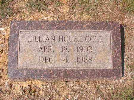 HOUSE COLE, LILLIAN - Columbia County, Arkansas | LILLIAN HOUSE COLE - Arkansas Gravestone Photos