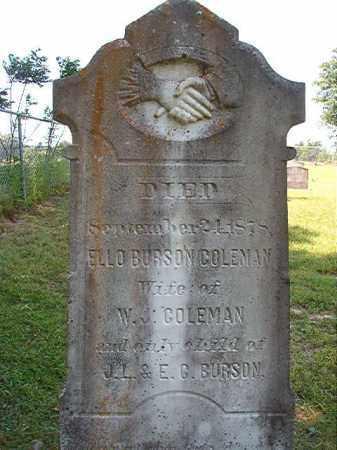 COLEMAN, ELLO - Columbia County, Arkansas | ELLO COLEMAN - Arkansas Gravestone Photos