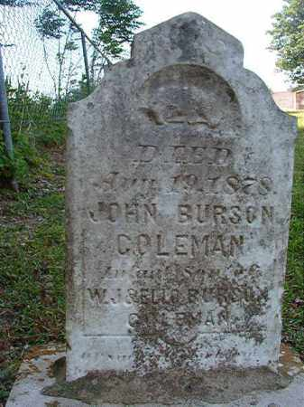 COLEMAN, JOHN BURSON - Columbia County, Arkansas | JOHN BURSON COLEMAN - Arkansas Gravestone Photos