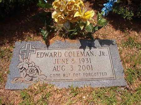 COLEMAN, JR, EDWARD - Columbia County, Arkansas | EDWARD COLEMAN, JR - Arkansas Gravestone Photos