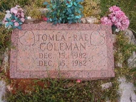 COLEMAN, TOMLA-RAE - Columbia County, Arkansas | TOMLA-RAE COLEMAN - Arkansas Gravestone Photos
