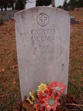 COLEMAN (VETERAN), CURTIS - Columbia County, Arkansas   CURTIS COLEMAN (VETERAN) - Arkansas Gravestone Photos