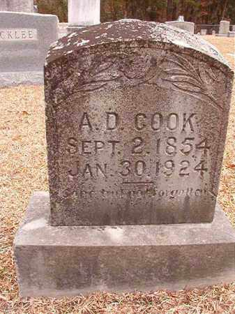 COOK, A D - Columbia County, Arkansas | A D COOK - Arkansas Gravestone Photos