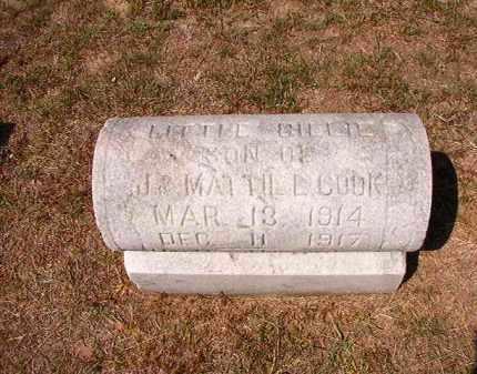 COOK, BILLIE - Columbia County, Arkansas | BILLIE COOK - Arkansas Gravestone Photos