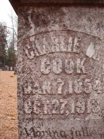 COOK, CHARLIE M - Columbia County, Arkansas | CHARLIE M COOK - Arkansas Gravestone Photos