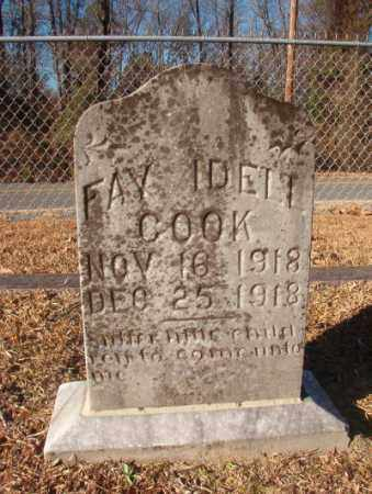 COOK, FAY IDELL - Columbia County, Arkansas   FAY IDELL COOK - Arkansas Gravestone Photos