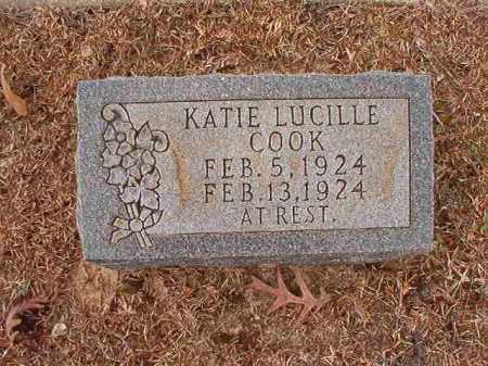 COOK, KATIE LUCILLE - Columbia County, Arkansas | KATIE LUCILLE COOK - Arkansas Gravestone Photos