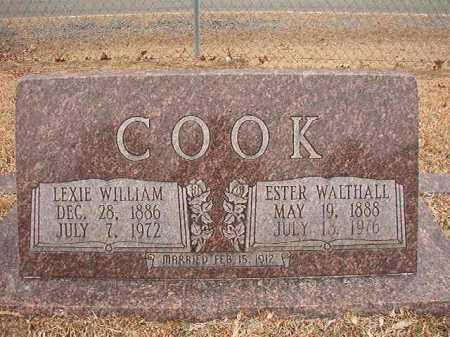 WALTHALL COOK, ESTER - Columbia County, Arkansas | ESTER WALTHALL COOK - Arkansas Gravestone Photos