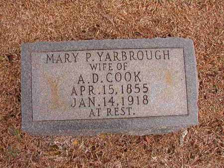 YARBROUGH COOK, MARY P - Columbia County, Arkansas | MARY P YARBROUGH COOK - Arkansas Gravestone Photos
