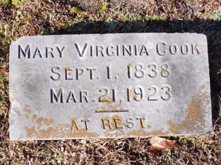 COOK, MARY VIRGINIA - Columbia County, Arkansas | MARY VIRGINIA COOK - Arkansas Gravestone Photos
