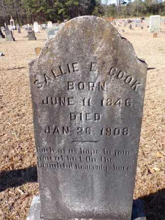 COOK, SALLIE E - Columbia County, Arkansas | SALLIE E COOK - Arkansas Gravestone Photos