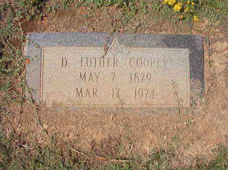 COOPER, D LUTHER - Columbia County, Arkansas   D LUTHER COOPER - Arkansas Gravestone Photos