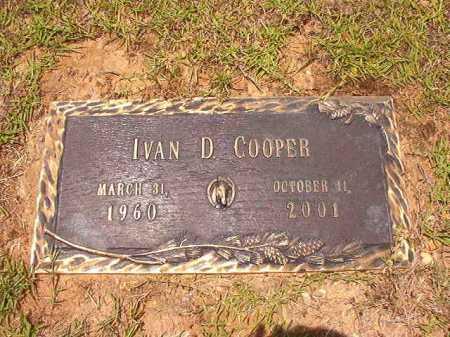 COOPER, IVAN D - Columbia County, Arkansas | IVAN D COOPER - Arkansas Gravestone Photos