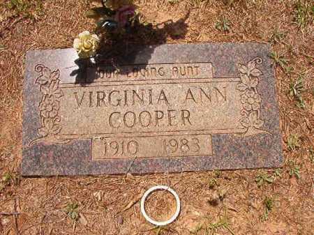 COOPER, VIRGINIA ANN - Columbia County, Arkansas | VIRGINIA ANN COOPER - Arkansas Gravestone Photos
