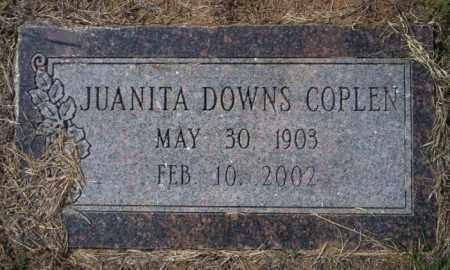 DOWNS COPLEN, JUANITA - Columbia County, Arkansas | JUANITA DOWNS COPLEN - Arkansas Gravestone Photos