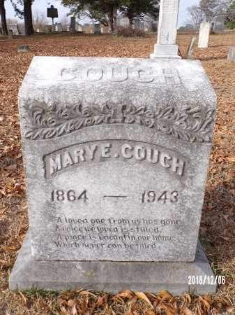 COUCH, MARY E - Columbia County, Arkansas   MARY E COUCH - Arkansas Gravestone Photos