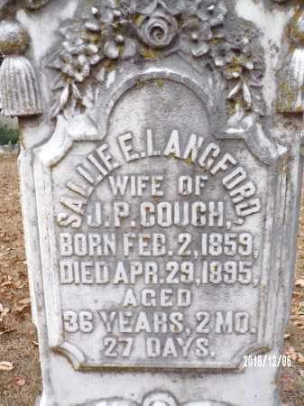 COUCH, SALLIE E - Columbia County, Arkansas | SALLIE E COUCH - Arkansas Gravestone Photos