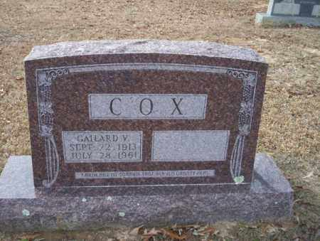 COX, GAILARD V - Columbia County, Arkansas | GAILARD V COX - Arkansas Gravestone Photos