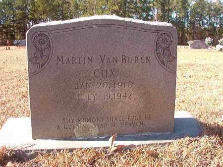 COX, MARTIN VAN BUREN - Columbia County, Arkansas | MARTIN VAN BUREN COX - Arkansas Gravestone Photos