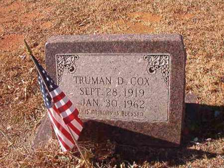 COX, TRUMAN D - Columbia County, Arkansas   TRUMAN D COX - Arkansas Gravestone Photos