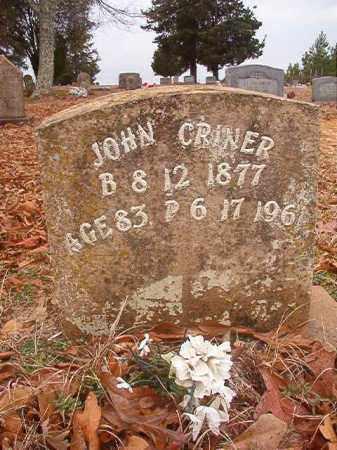 CRINER, JOHN - Columbia County, Arkansas   JOHN CRINER - Arkansas Gravestone Photos