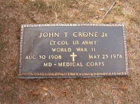CRONE, JR (VETERAN WWII), JOHN T - Columbia County, Arkansas   JOHN T CRONE, JR (VETERAN WWII) - Arkansas Gravestone Photos