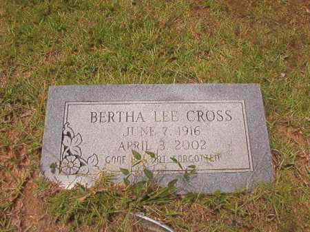CROSS, BERTHA LEE - Columbia County, Arkansas   BERTHA LEE CROSS - Arkansas Gravestone Photos
