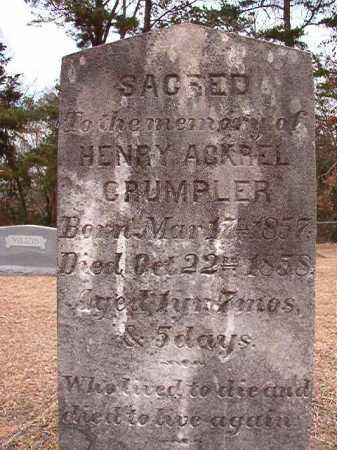 CRUMPLER, HENRY ACKREL - Columbia County, Arkansas   HENRY ACKREL CRUMPLER - Arkansas Gravestone Photos