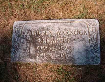 WARNOCK CRUMPLER, KATHLEEN - Columbia County, Arkansas | KATHLEEN WARNOCK CRUMPLER - Arkansas Gravestone Photos