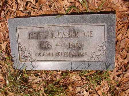 DANDRIDGE, RUTHIE L - Columbia County, Arkansas   RUTHIE L DANDRIDGE - Arkansas Gravestone Photos