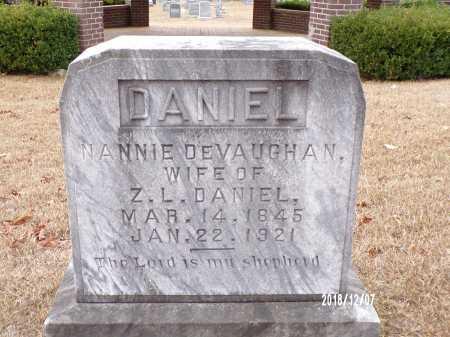 DEVAUGHAN DANIEL, NANNIE - Columbia County, Arkansas   NANNIE DEVAUGHAN DANIEL - Arkansas Gravestone Photos
