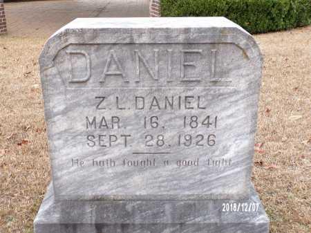 DANIEL, Z L (BIO) - Columbia County, Arkansas   Z L (BIO) DANIEL - Arkansas Gravestone Photos