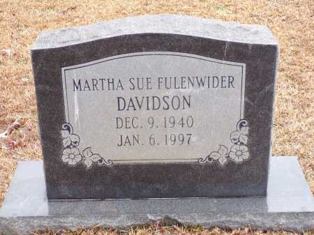 FULENWIDER DAVIDSON, MARTHA SUE - Columbia County, Arkansas | MARTHA SUE FULENWIDER DAVIDSON - Arkansas Gravestone Photos
