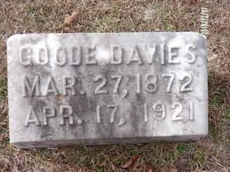 DAVIES, GOODE - Columbia County, Arkansas   GOODE DAVIES - Arkansas Gravestone Photos