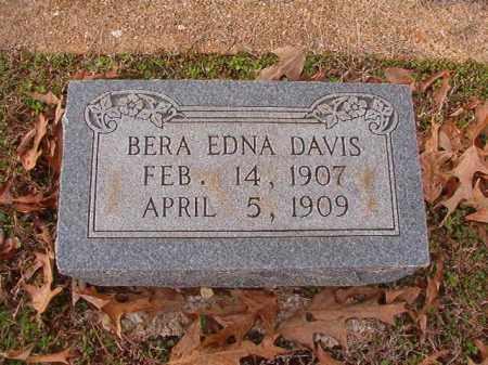DAVIS, BERA EDNA - Columbia County, Arkansas   BERA EDNA DAVIS - Arkansas Gravestone Photos